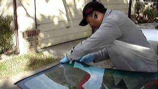Windshield replacement (Part 2) Lo Auto Glass Repair, Stockton CA..wmv