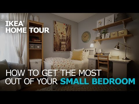 Small Bedroom Storage Solutions Ikea Home Tour