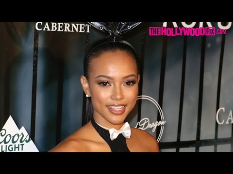 Karrueche Tran Attends Maxim Halloween Party Dressed As A Bunny 10.24.15 - TheHollywoodFix.com thumbnail