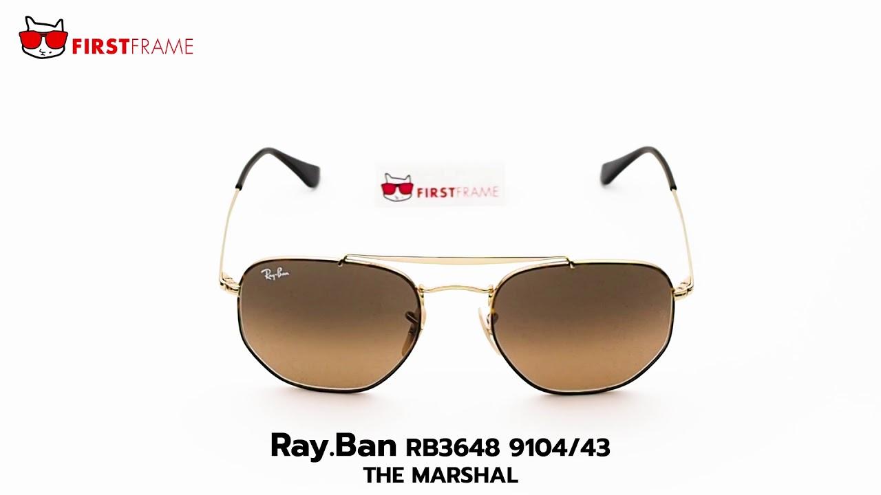 4259c3ec23c RayBan RB3648 9104 43 THE MARSHAL - YouTube