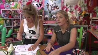 KnutselTV - DIY panda t-shirt 🐼