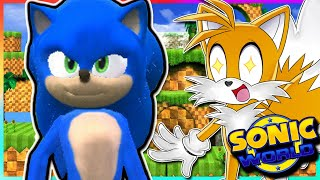 MOVIE SONIC!! | Tails Plays Sonic World Mods