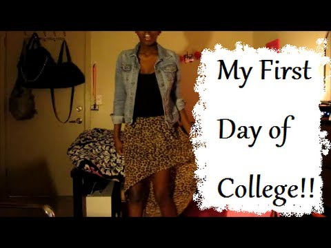 College Series My First Day Of College Mini Ootd Youtube