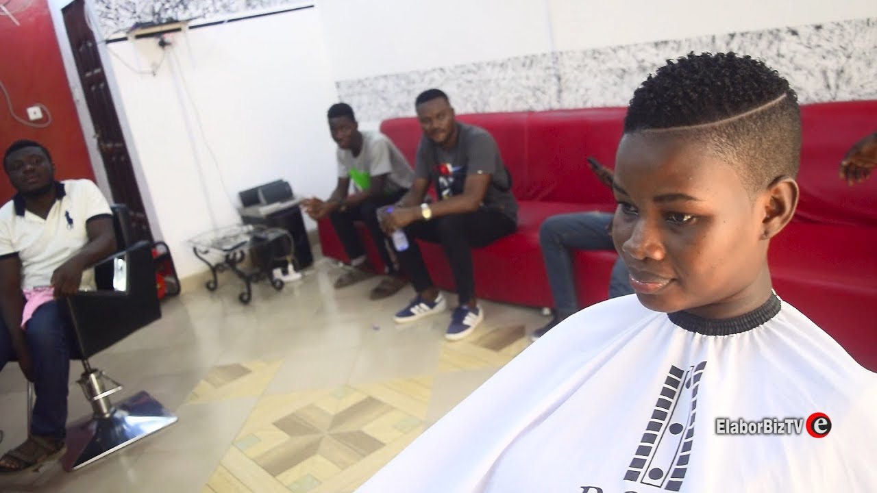 Pamela Watara Visits Men's Room Salon for Her Signature Hair Cut