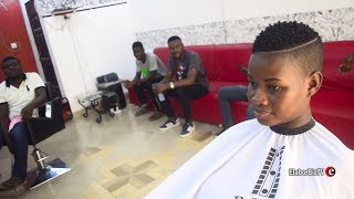 Pamela Watara Visits Men's Room Salon for Her Signature Hair Cut