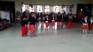 Lungi Dance Kindergarten students| Golden Harrier School Sonipat