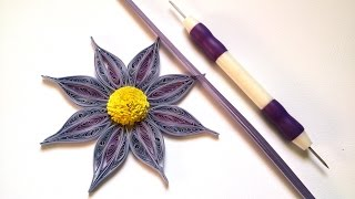 Tutorial-Quilling Made Easy-How to make Beautiful  Quilling Flower with a tool for quilling