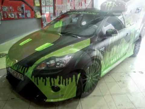CAR WRAPPING GREECE FORD FOCUS RSwmv