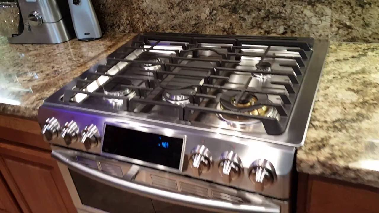 samsung flexduo stainless steel gas range with wifi first impressions - Slide In Gas Range