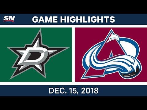 NHL Highlights | Stars vs. Avalanche - Dec 15, 2018