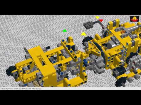 Lego Technic Suspended Subtractor Tank Building Instructions By