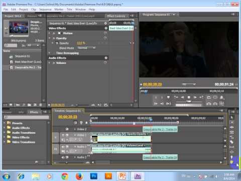 Adobe Premiere-Position Video