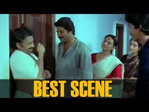 Mammootty, Nedumudi Venu, Ashokan, Sukumari And Unnimarry Best Scene     Arappatta Kettiya Gramathil