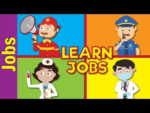 Jobs and Occupations for Kids   What Does He/She Do?   Kindergarten, EFL and ESL   Fun Kids English