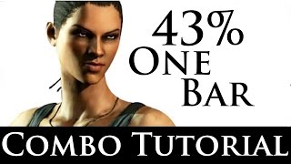 Mortal Kombat X - Combo Tutorial - Jacqui Briggs (43% One Bar) (Full Auto)(Watch me on Twitch.tv: http://www.twitch.tv/juandingohd Remember to like and favorite. Subscribe for many more videos to come! Follow me on Twitter: ..., 2015-05-03T21:01:37.000Z)