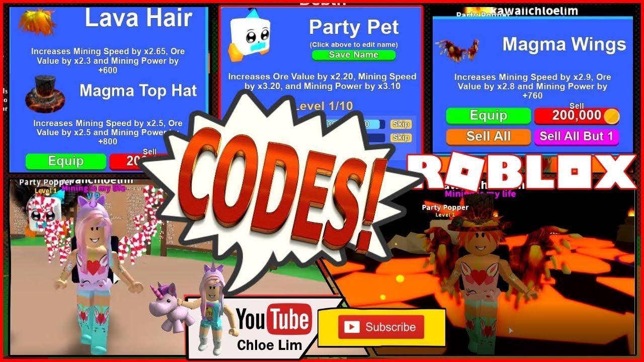 Chloe Tuber Roblox Mining Simulator Gameplay 4 New Codes Lava