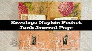 Envelope Napkin Pocket Junk Journal Page