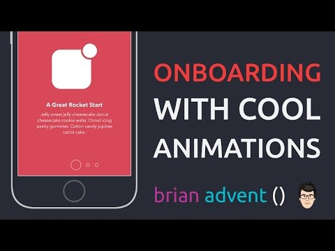 iOS Swift Tutorial: Material Design Onboarding with Cool Animations