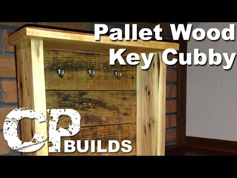 Pallet Wood To Key Cubby Project // Woodworking How-To