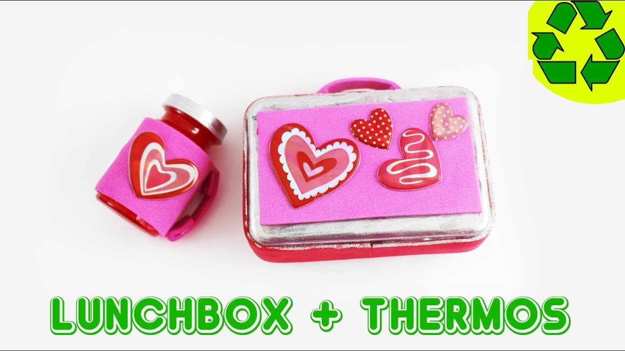 How to make an american girl doll lunchbox and thermos for Easy american girl doll crafts