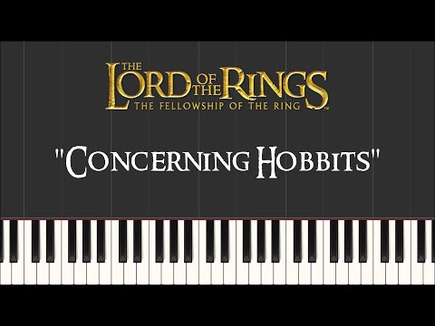 The Lord of the Rings - Concerning Hobbits (Piano Tutorial) - FREE Sheet Music