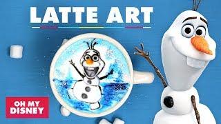 Frozen's Olaf Latte Art | Sketchbook by Oh My Disney