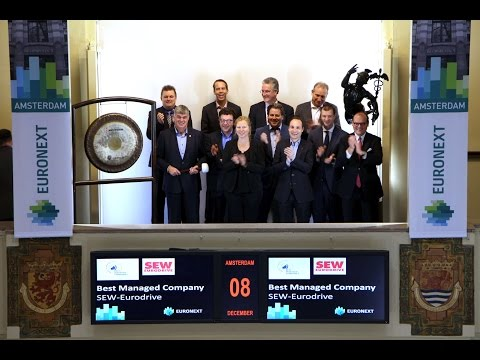 Best Managed Company, SEW-EURODRIVE B.V., visits Euronext Amsterdam