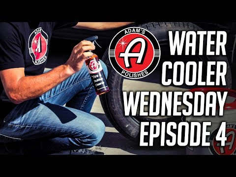 How to Clean Tires, Rubber, and Plastic Trim | Adam's Polishes Water Cooler Wednesday E4