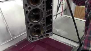 Aluminum Head ultrasonic cleaning
