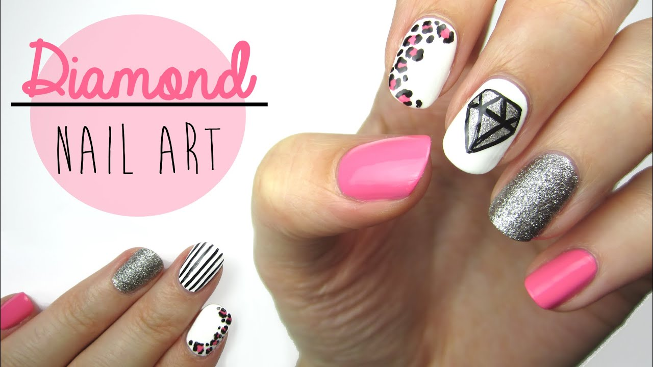 Diamond Nail Art - YouTube