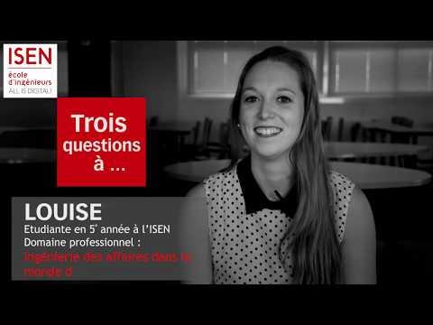 Louise, étudiante en 5e année à l'ISEN - Ingénieur d'affaires dans le numérique