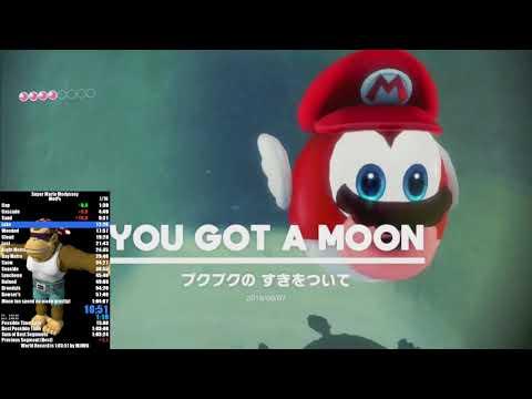 Super Mario Odyssey Mod% Speedrun in 1:01:42