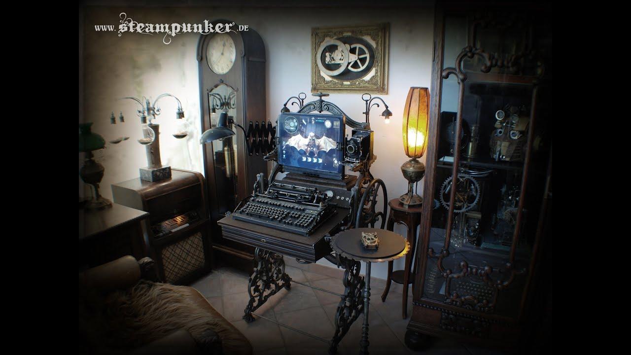 Steampunk Computer PC Workstation  YouTube