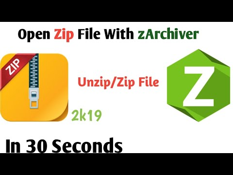 How To Open Zip File In Android ||How To Unzip/Zip File