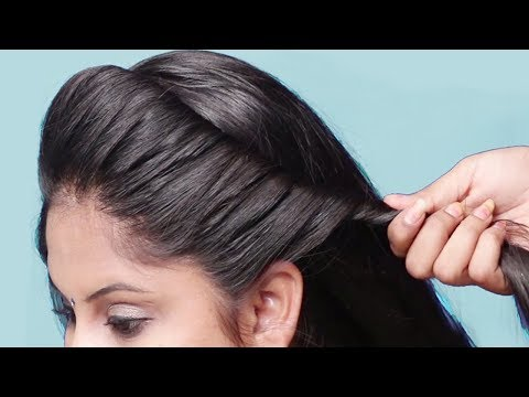 Easy braided Bun Hairstyles | hairstyle 2019 for party | Hairstyles for long hair | hair style girl thumbnail