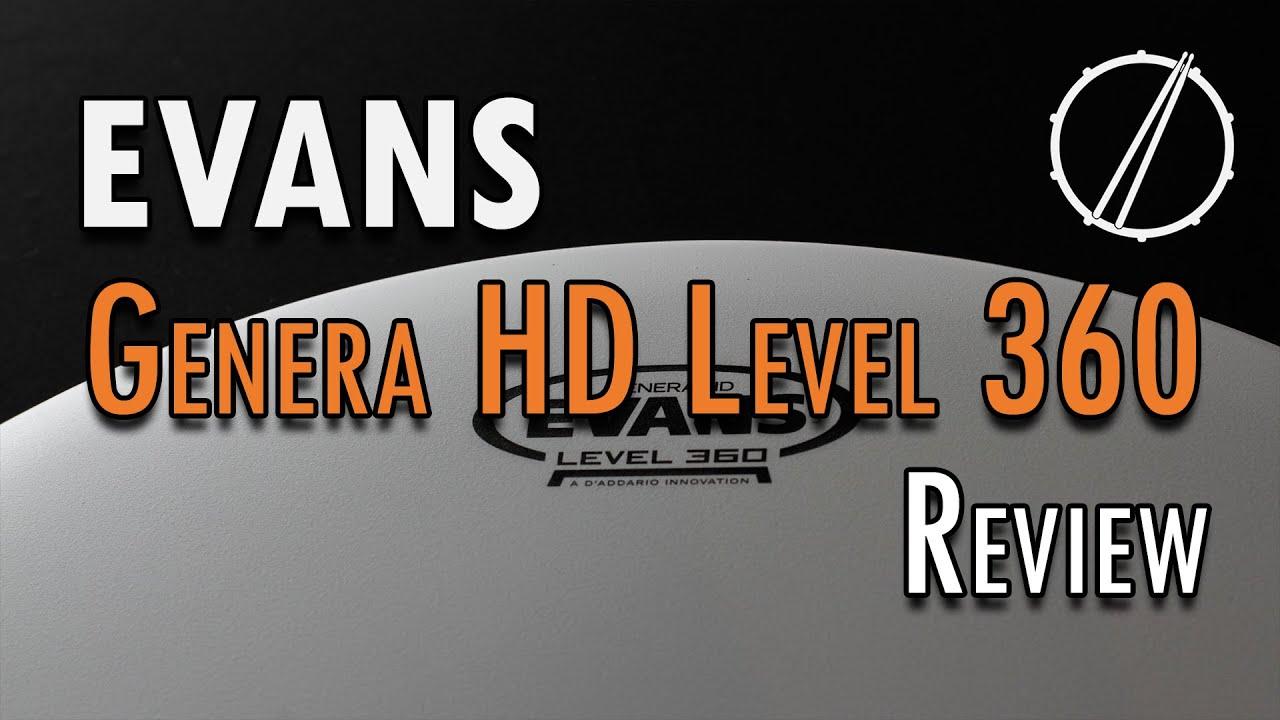 evans genera hd level 360 drumhead review test youtube. Black Bedroom Furniture Sets. Home Design Ideas
