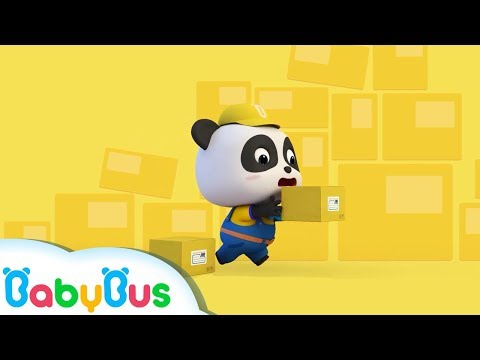 Baby Panda Courier | Drive Car to Deliver Vegetables | Kids Pretend Play | BabyBus