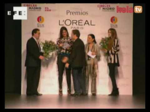 Cibeles Madrid Fashion Week: Premios L´Oreal: la modelo Clara Alonso y Miguel Palacio