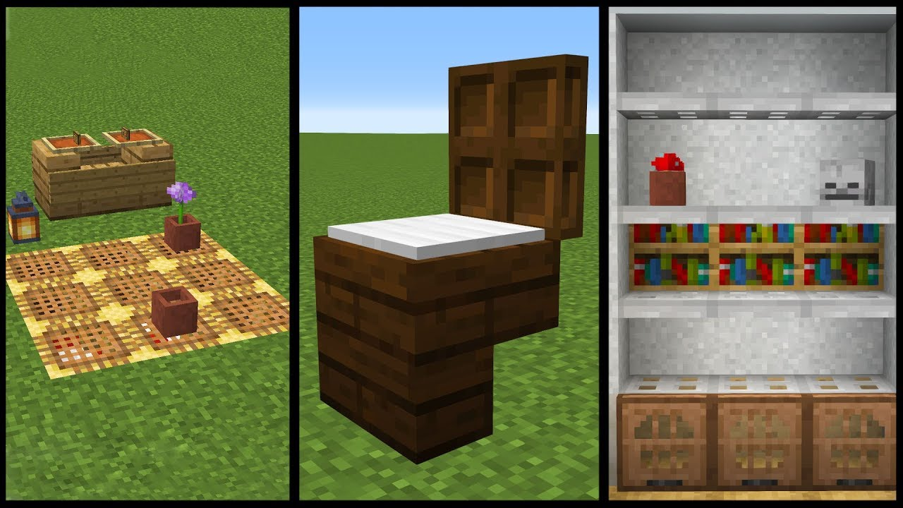 Minecraft  50 Furniture And Decoration Designs