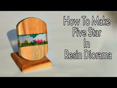 How To Make DIY Five Stars In Resin Diorama From Resin And Wood | Resin Diorama | Resin Show piece