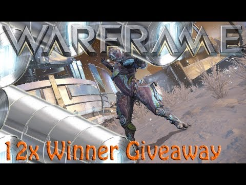warframe giveaway 2019 warframe 12x winners plat giveaway ended youtube 9516