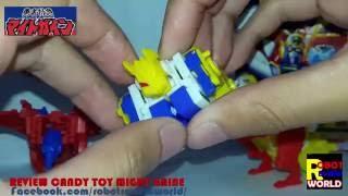 รีวิวหุ่นประกอบ Tri Bomber might gaine toy review - ไทรบอมเบอร์ By Robot Review World แนะนำรีวิวหุ่นยนต์แ...