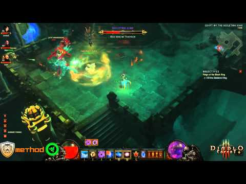 Diablo 3 - Skeleton King (Inferno) Kill Video