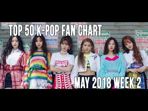 Top 50 K-Pop Songs Chart - May 2018 Week 2 Fan Chart