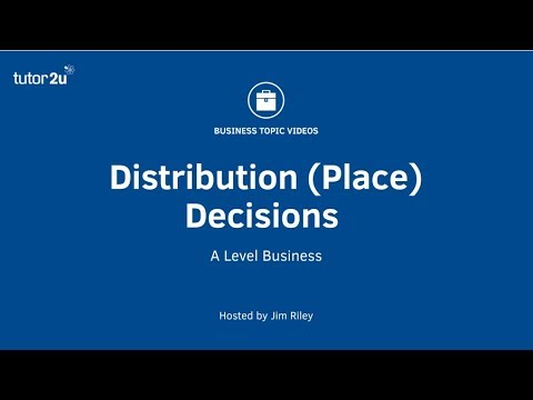 Distribution (Place) Decisions in the Marketing Mix