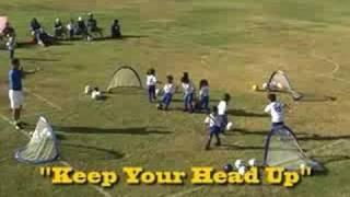 kids soccer games dribbling shooting