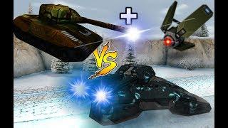 Tanki Online - Juggernaut Vs Railgun M4 + Booster Drone M4!