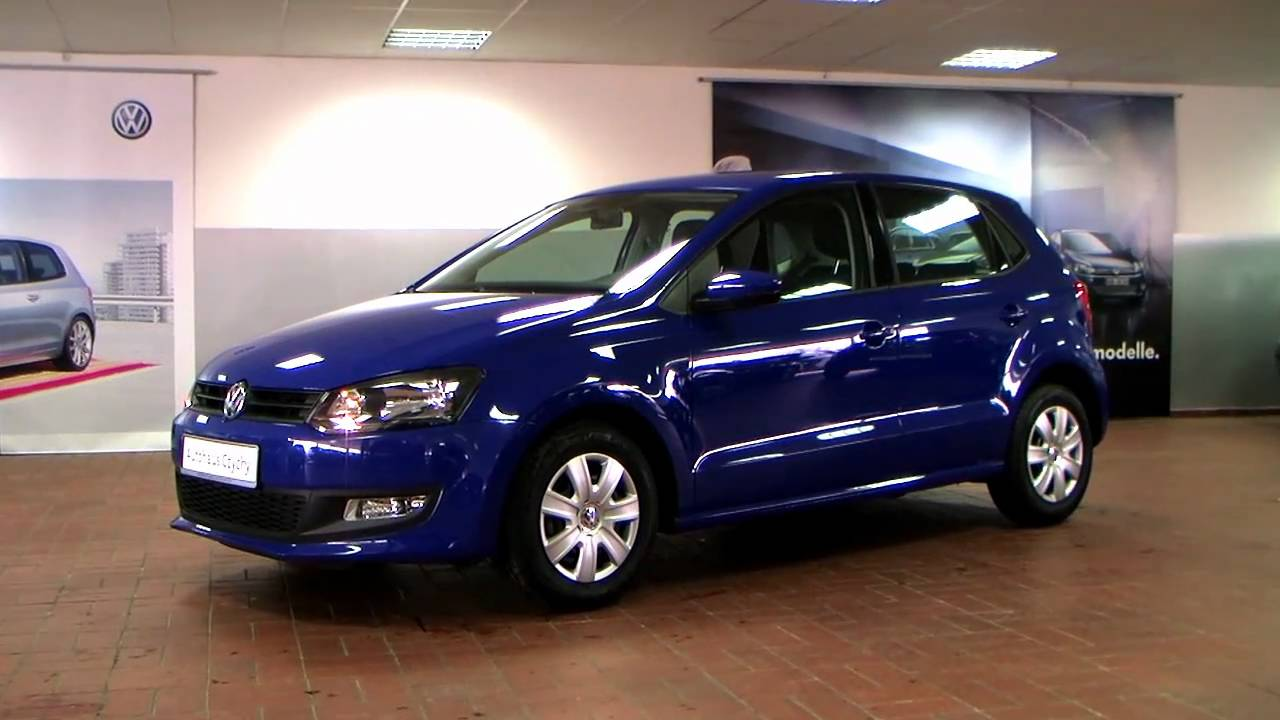 volkswagen polo 1 2 trendline 2010 meerblau ay068002 youtube. Black Bedroom Furniture Sets. Home Design Ideas