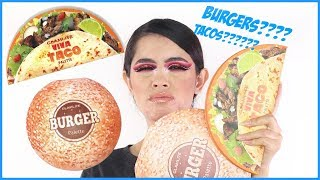 TRYING A BURGER AND A TACO palette | Rocio Ceja