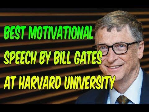 Bill Gates Best Motivational And Funny Speech At Harvard University